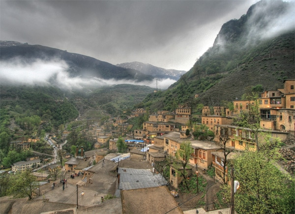 In Iran's Masouleh Village, roofs are used as pedestrian pathways, and cars are forbidden.