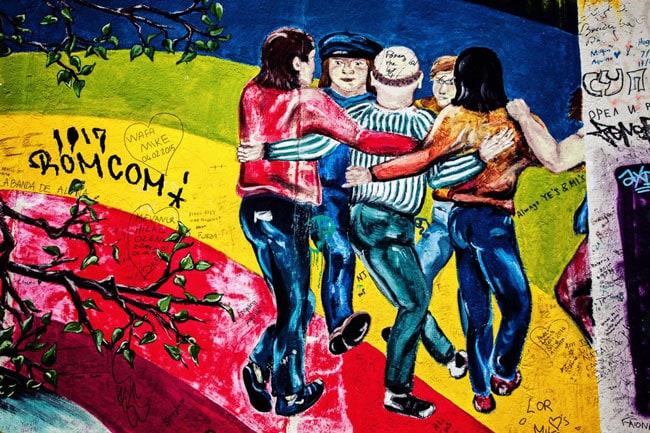 Final Murals on Berlin Walls East Side Gallery