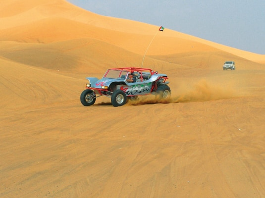Thrashing up and down the dunes, or dune bashing, has become a popular recreation for tourists and locals