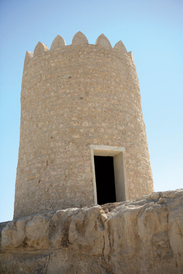 Traditional Arabian watchtower in the vicinity of the old Doha Fort