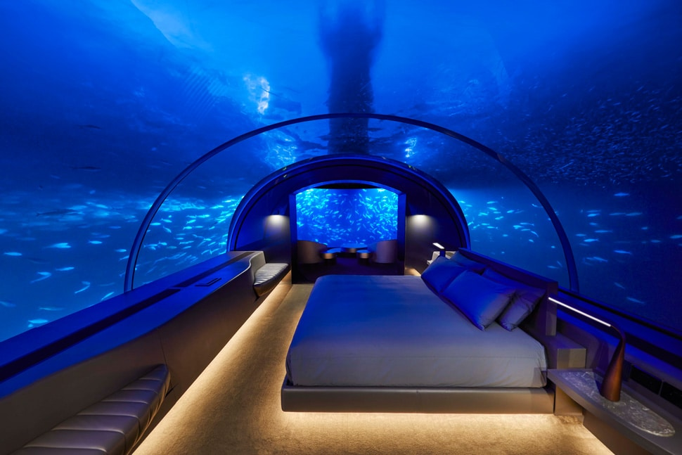 THE MURAKA Undersea Bedroom Architectural Night- ALO Magazine